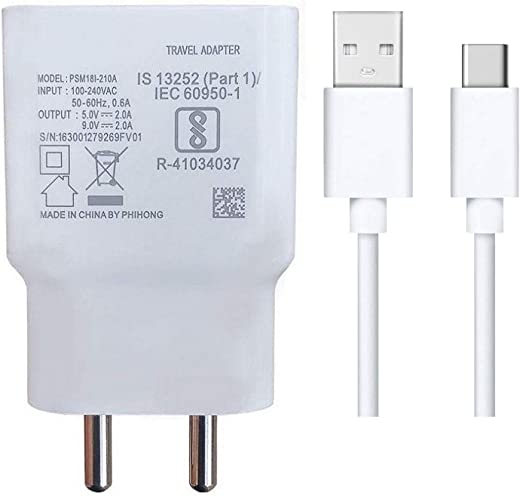 Quick Charger For Samsung Galaxy M51 Charger Original Adapter Wall Charger   Type-C Mobile Charger   Type-C Charger Cable Fast Charging Mobile…