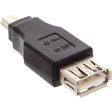 Inline Usb 2 0 Adapter Buchse A Auf Mini 5pol Stecker Computer Zubehör