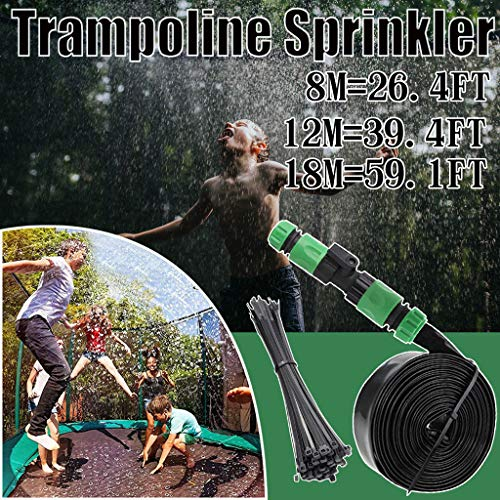 LUCKME Trampoline Sprinkler, Water Park Sprinkler Hose Pipe Fun Summer Pools Sprinkler Toys Accessories Fun Summer Games For Kids Outside Garden Yard (12m/39.4ft)
