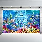 Mehofoto Aquarium Telón de fondo bajo el mar Tropical Fish Coral Fotografía Fondo 7x5ft Tanque de peces Acuario marino Photo Backdrops