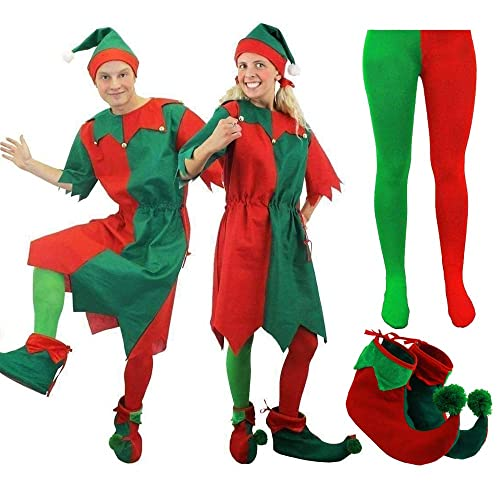 Plus Size Elf Fancy Dress Christmas Party Costume skirt 12 inch Length
