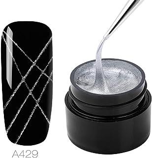 ROSALIND Nail Art Spider Gel Diseño de bricolaje Punto a dibujo de línea y pintura Decoración Dibujar Barniz de seda 5 ml