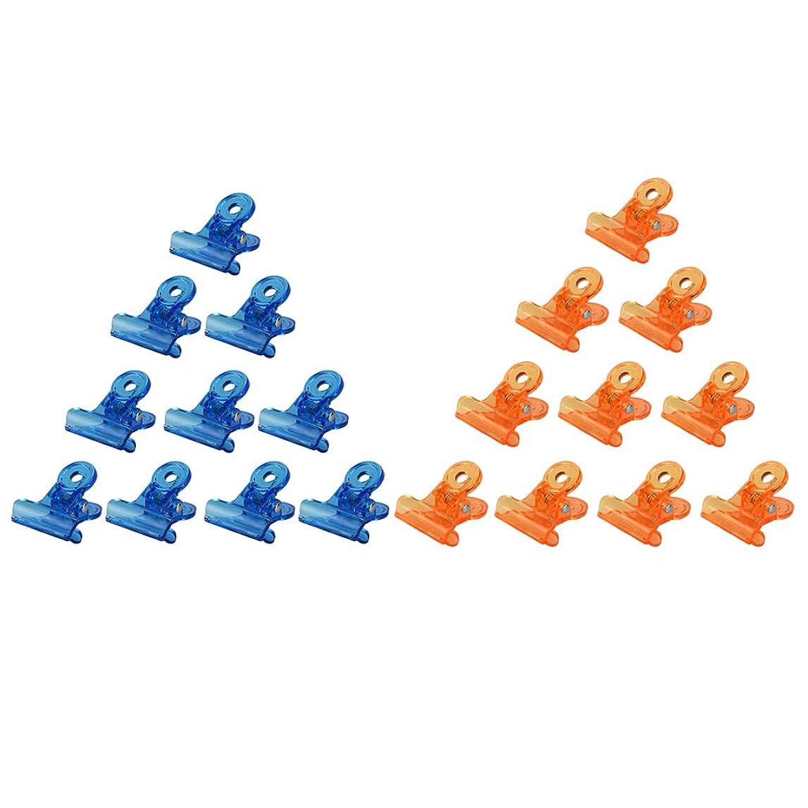 CUTICATE ネイルクリップ ネイルアート ジェルネイルポリッシュ クリーナー ネイルツール ネイルクリップ 全3種 - オレンジ+ブルー