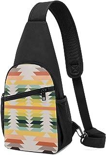 American Native Pattern - Mochila para el hombro, ligera, bandolera, bolsa cruzada, para viajes, senderismo, para hombres ...