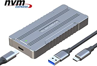 USB 3.1 NVMe M.2 SSD Caja de Carcasa - ElecGear NV-C01 Disco Duro Adapter, 10Gbps Aluminio Radiator Case adaptador convertidor para PCIe NVMe 2280 M2 M-Key NGFF SSD Disk Drive, USB tipo A y C cable