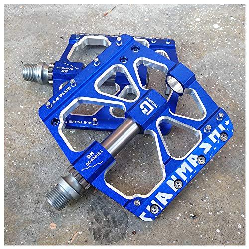 YSHUAI Ultraligero Bicicletas De Montaña Pedales De Aleación De Aluminio, Fácil Montaje Pedales De Bicicleta Trekking, Pedales De Bicicleta, 3 Sellados, Accesorios para Bicicletas para MTB,Azul