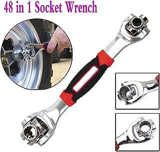 Socket Wrench 48 en 1 - Wrench Universal Ajustable Multifunción Funciona con Tornillos Spline, 6