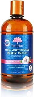 Tree Hut Shea Moisturizing Body Wash Moroccan Rose, 17oz, Ultra Hydrating Body Wash for Nourishing Essential Body Care