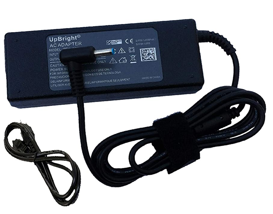 UpBright 19.5V 4.62A 90W AC/DC Adapter Replacement for HP Pavilion AR5B195 AR5B225 AR5B125 TPN-C113 TPNC113 AR58125 Ultrabook Laptop Notebook PC 19.5VDC Power Supply Charger (w/OD: 4.5mm Blue Tip) xaicvakvo693