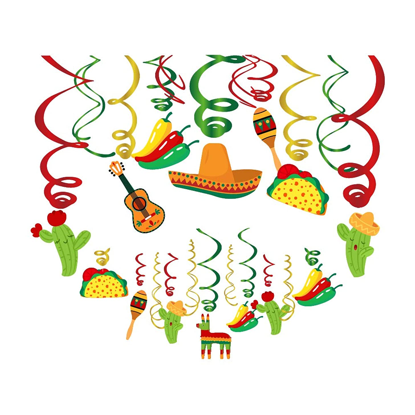 Mexican Party Hanging Decoration, Funny Cinco De Mayo For Mexican Birthday Wedding Bachelorette Fiesta Themed Party Favors Supplies Decorations(30pcs)