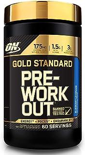 Optimum Nutrition 欧普特蒙 金标锻炼前能量粉,含肌酸,β-丙氨酸和咖啡因,口味:蓝莓柠檬,60份,1.32磅/600克