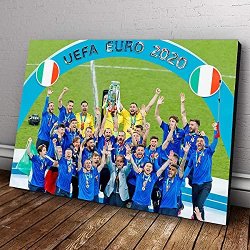 POSTER ITALIA CAMPIONI D'EUROPA EURO 2020