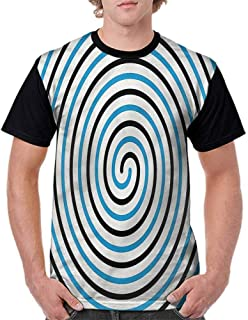 BlountDecor Printed T-Shirt,Eighties Funky Pop Doodle Fashion Personality Customization