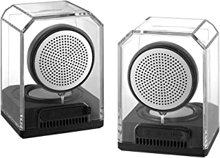 Docooler BTS-628 Portable Magnetic TWS Wireless Bluetooth Speaker 10W Transparent Outdoor Stereo Bass Subwoofer Support LINE-in Music Play Hands-Free with Mic