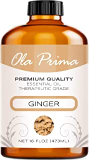 Ola Prima 16oz - Premium Quality Ginger Essential Oil (16 Ounce Bottle) Therapeutic Grade Ginger Oil