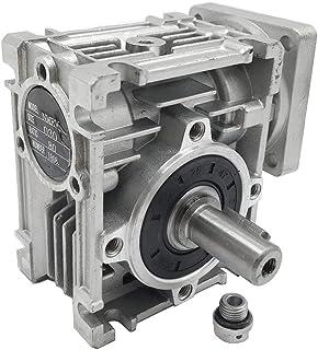 NMRV-030 Worm Gear Speed Reducer Ratio 80:1 NEMA23 Stepper Gearbox for Stepper/Servo Motor