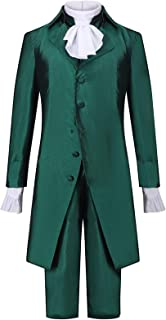 Alexander Hamilton Musical Rock Opera Concert Cosplay Costume Man Stage Outfit Halloween Carnival Shows Cloth (Color : Gre...