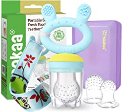 Baby Fruit Food Feeder Pacifier - Haakaa Silicone Feeder and Teether for Infant Safely Self Feeding,BPA Free Teething Reli...