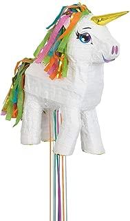 White Unicorn Pinata, Pull String