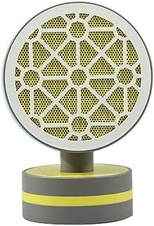 HBHHB 500W Pequeño Calefactor De Aire Caliente 2 Temperatura Oscilación Automática Ángulo Ajustable Estufa Electrica Bajo Consumo Silence para Cuarto/Baño/Oficina 192 * 130Mm,Amarillo