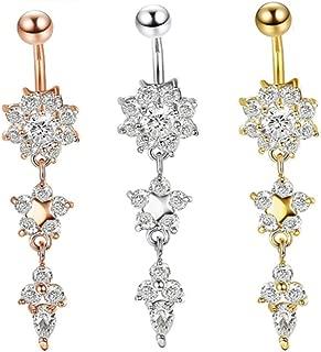 5-60 mixte acier nombril ventre anneaux barres Body Piercing Bijoux de Corps Bijoux