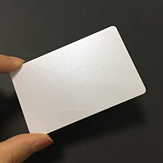 Premium Double Side Printable PVC Card with Pearl White Color for ID Badge Printers Graphic Quality CR80 Credit Card Size for Zebra Fargo Printer (20)