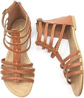 6d3c37a31 MuDan Womens Buckle Zip Thong Gladiator Sandal