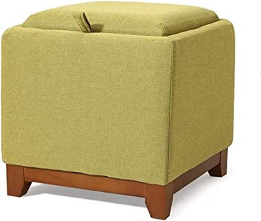 Step Stools Ottoman Cube Storage with Coffee Tray Side End Tables Foot Rest Foot Step Stools Nightstand for Bedroom Living Ro