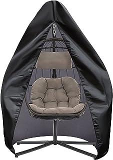 SIRUITON Housse de Chaise Suspendue Housse de Chaise de Jardin Oeuf Imperméable Robuste Tissu Oxford 420D Noir (105x95x20...