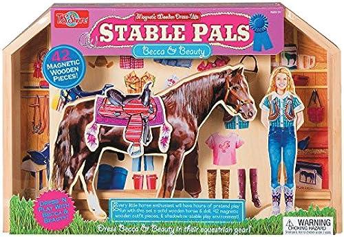 Meiner Shure stabile Pals Becca und Beauty Holz magnetisch Dress-ups Spielzeug