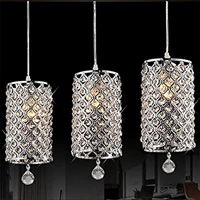 Etuoji Crystal Ceiling Light Pendant Lamp Fixture Lighting Chain Chandelier for Living Bed Dining Room