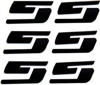 Yoaoo 3x OEM Black Ss Emblems Badges 3D Logo for Silverado Series Black