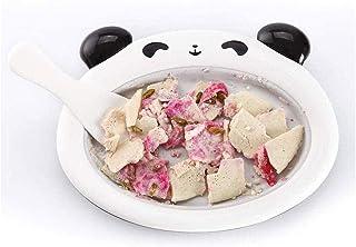 RFSTGYU Instant Ice Cream Maker,roll Ice Cream Maker-Ice Cream Machine Fried Yogurt Plate Cartoon Panda Safe Fried Ice Machine Household