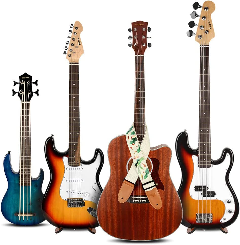 Lotus Electric /& Acoustic Guitars Guitar Strap Vintage Tweed 100/% Cotton /& Genuine Leather Ends Shoulder Strap For Bass