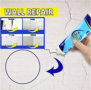 Flurries 👍 250g Wall Repairing Ointment - Pre-Mixed Concrete Patch Squeeze Tube - Magic White Paint Cream - Interior Exterior Cement Graffiti Crack Hole Disappear Spackle Filler Putty (White)