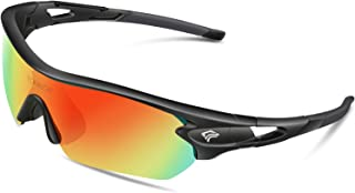 Polarized Sports Sunglasses with 3 Interchangeable Lenses for Men Women Cycling Running..