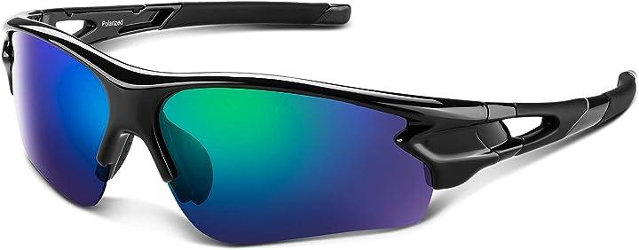 Occhiali bea cool occhiali da sole sportivi polarizzati uomo donna adolescente uv 400 protezione B07K8JN6Q5