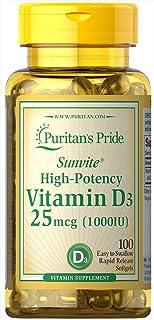 Puritan's Pride Vitamin D3 1000 IU, 100ct