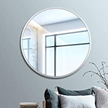 Bathroom Vanity Mirror,Wall-Mounted Mirror, Bathroom Mirrors Metal Vanity Mirror Wall Mounted Mirror Waterproof Aluminum R...