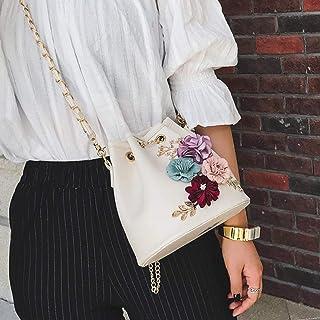 Demana Women New Fashion Handbag Shoulder Bags Purse Decal Messenger Bag (white)