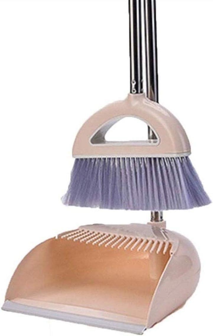 HIZLJJ Long Handle Broom Ultra-Cheap Deals and Dustpan Dust Set Pan Tulsa Mall Upright Combo