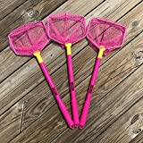 ILLUMINET 3 Pack Floating Nets Pink: No Assembly Required Beach Toys for Kids, Kids Beach Nets, Kid Fishing Nets, Butterfly Net, Beach Toy, Shelling Net, Dip Net, Crab Net, Critter Net
