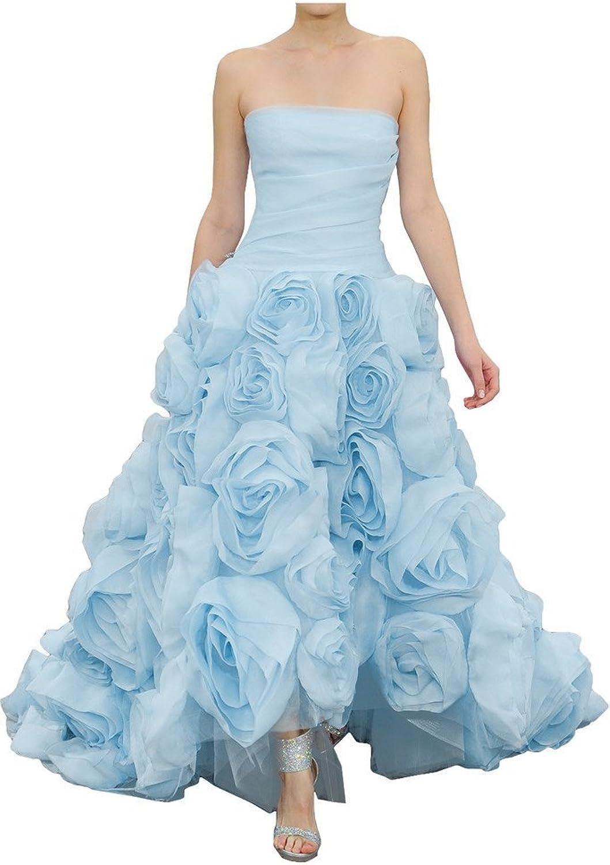 Angel Bride Flower Strapless Prom Dresses for Juniors Quinceanera Dresses HiLo