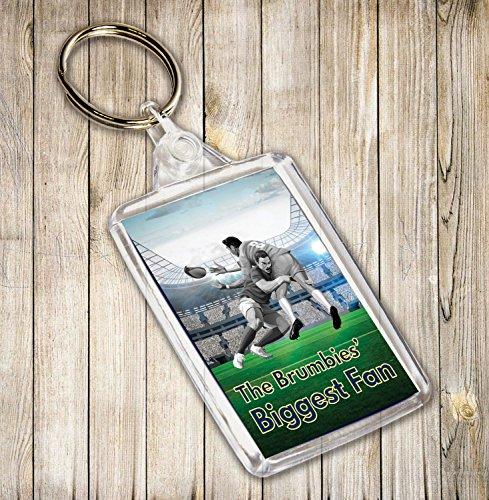 Das brumbies größten Fan Rugby Themed Schlüsselanhänger, Geburtstag Geschenk/Strumpffüller