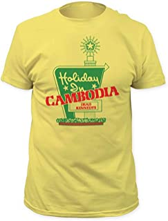 Men's Dead Kennedys Holiday in Cambodia Cotton Yellow T-Shirt