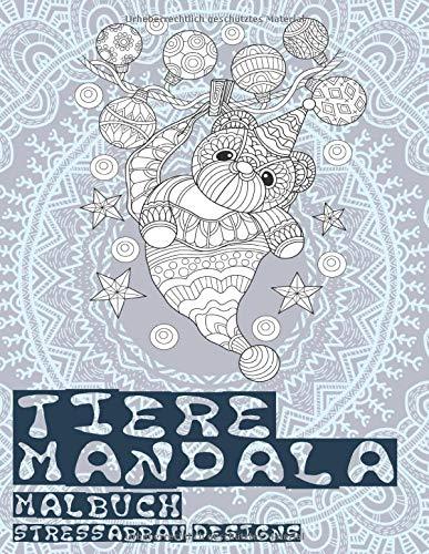 Tiere Mandala - Malbuch - Stressabbau-Designs