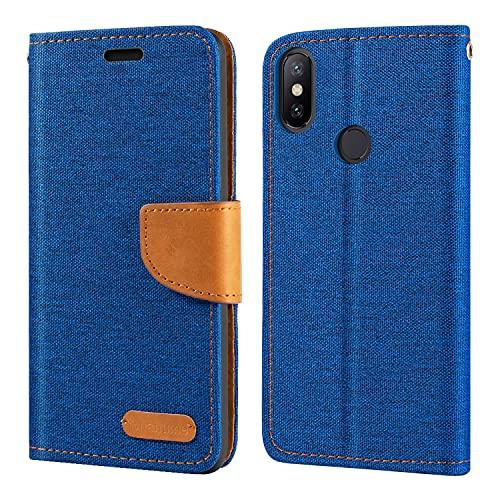 Capa para Xiaomi Mi A2, capa carteira de couro Oxford com capa traseira magnética de TPU macio para Xiaomi Mi 6X