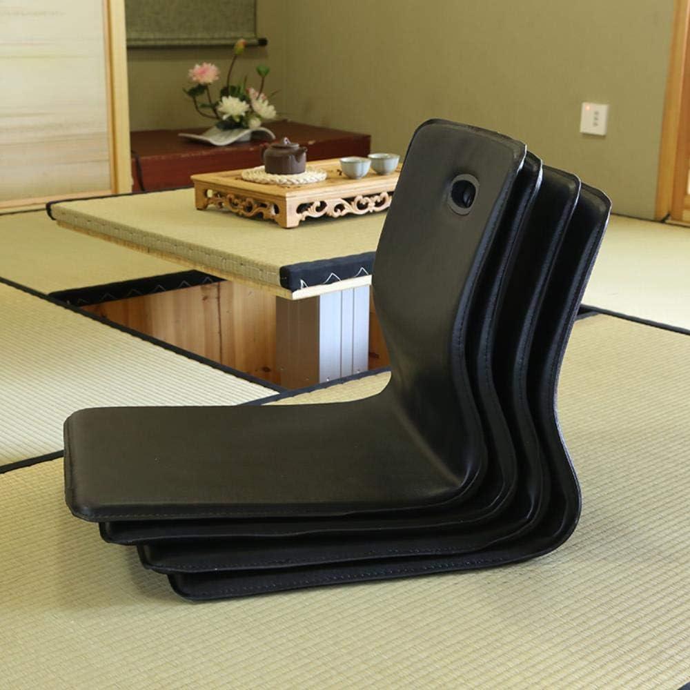 QPB Sièges de Plancher deMeubles deSalon de Couleur Noire deFaux Cuir de Chaise de sansJambes, Couleur Noire White Color