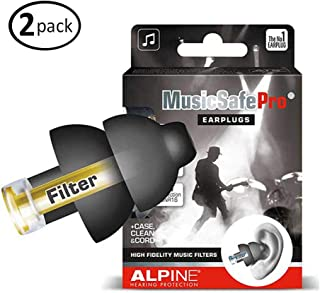 Alpine MusicSafe Pro Hearing Protection for Musician, Black (2-Pack)
