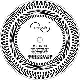 Analogis Perfect Pitch de 33–45–78estroboscopio Disco para tocadiscos